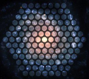 Galaxy with MaNGA spectrograph footprint overlaid.
