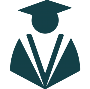 icon of graduate in a cap and gown