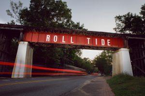 Roll Tide bridge in Northport, Alabama